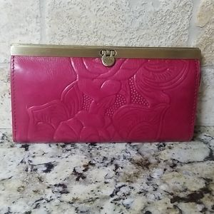 1-DAY SALE Patricia Nash Pink Tooled Wallet